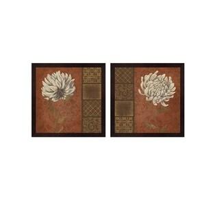 Yuna 'Floraworks' Framed Art (Set of 2)
