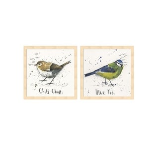 Michelle Campbell 'Chiffchaff & Blue Tit' Framed Art (Set of 2)