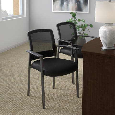 Bush Business Furniture Corporate Mesh Back Guest Chairs Set of 2