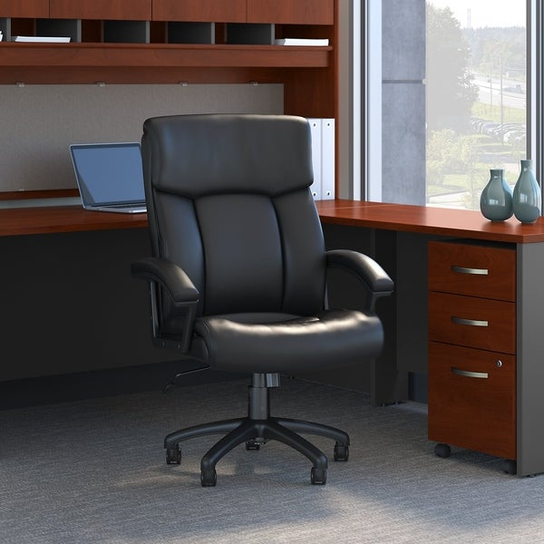 Bush Business Stanton Plus High Back Leather Executive Office Chair