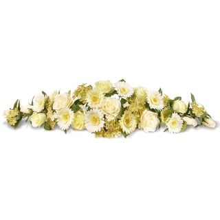 Ivory Spring Flowers 33-inch Swag