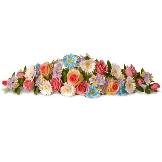 33-inch Spring Flowers Swag