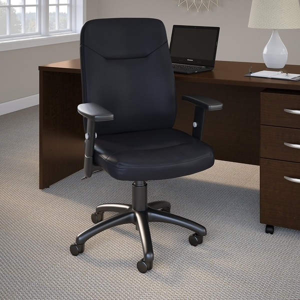 Bush Business Stanton High Back Leather Executive Office Chair