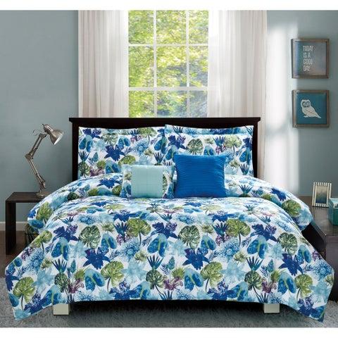 Porch & Den Shriver Blue 5-piece Comforter Set