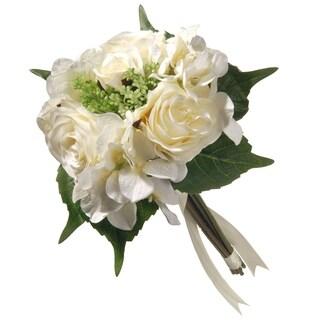 "12.2"" Cream Rose and Hydrangea Bundle"