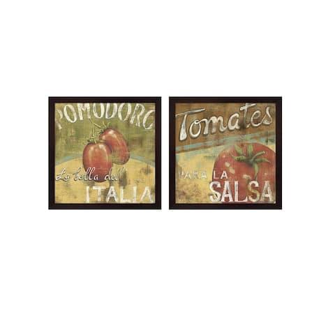 Daphne Brissonnet 'Vine Ripe B' Framed Art (Set of 2)