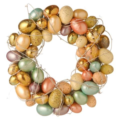 Multicolor Plastic 16-inch Easter Egg Wreath