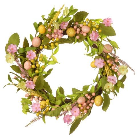"""22"""" Decorated Easter Wreath"""
