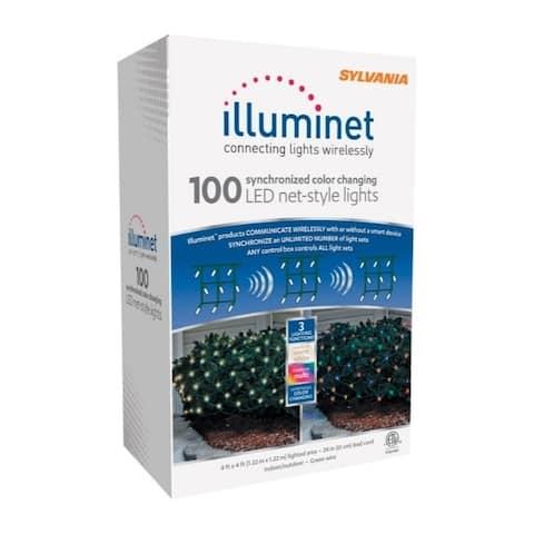 Sylvania Illuminet LED Mini LED Light Set Color Changing 4x4 ft. 100 lights