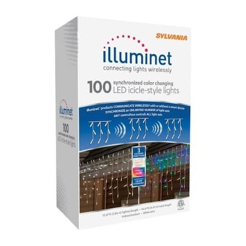 Sylvania Illuminet LED Mini LED Light Set Color Changing 12.67 ft. 100 lights
