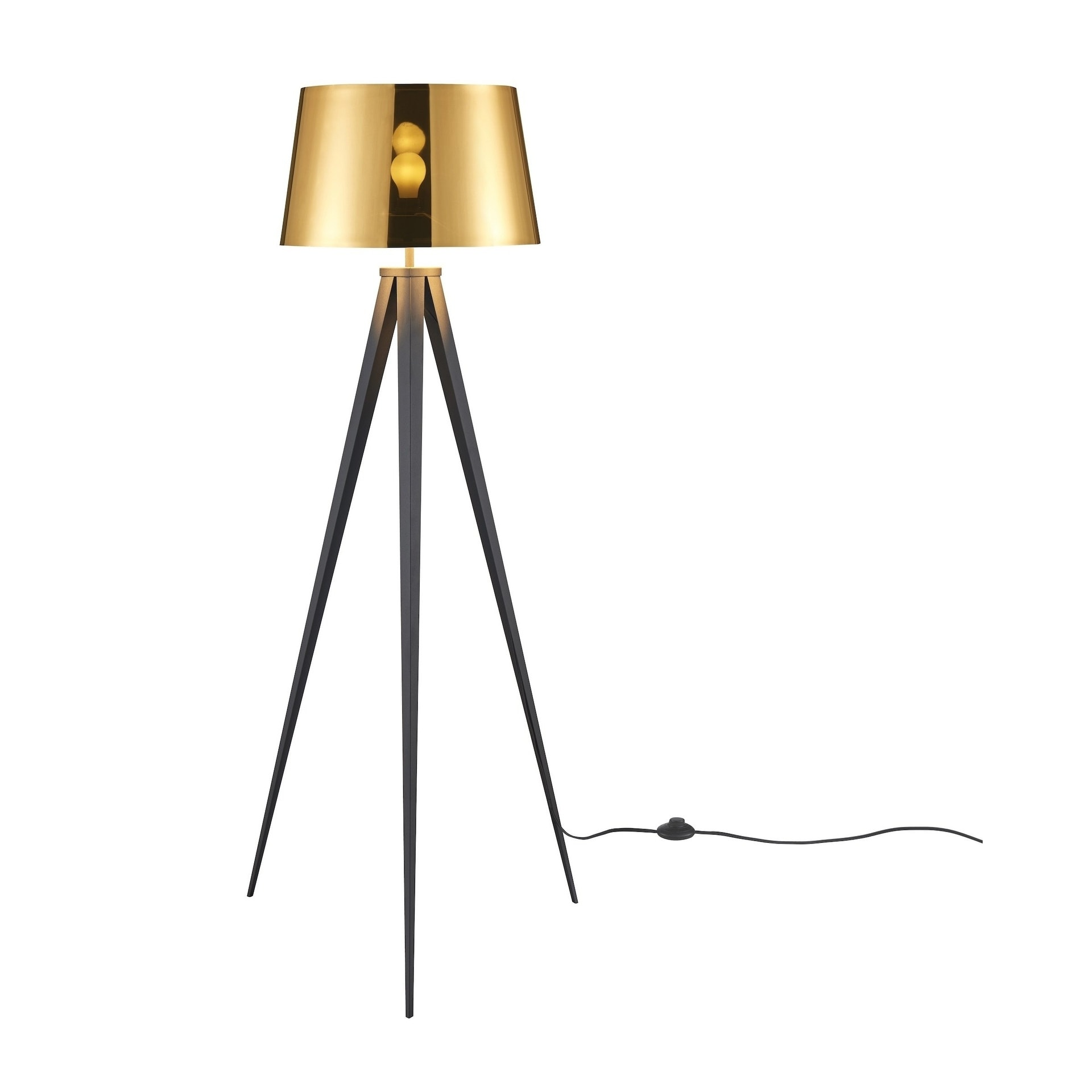 Shop Black Friday Deals On Euro Style Collection Berlin 60 Tripod Floor Lamp Black Gold Black Gold Overstock 26507819