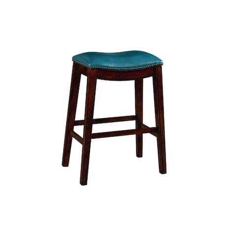 Gracewood Hollow Parpetsi 30-inch Rubberwood Backless Bar Stool with Upholstered Seat