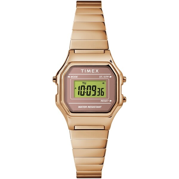d01dee484 Timex Women's TW2T48100 Classic Digital Mini Rose Gold-Tone Stainless  Steel