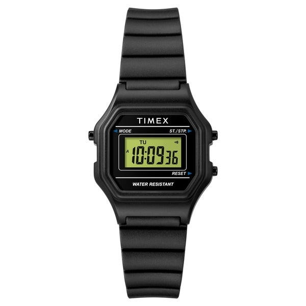 7eaf7fd96 Shop Timex Women's TW2T48700 Classic Digital Mini Black Resin Strap Watch -  Free Shipping On Orders Over $45 - Overstock - 26507878