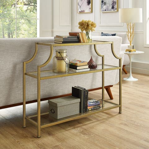 Aimee Glass Console Table