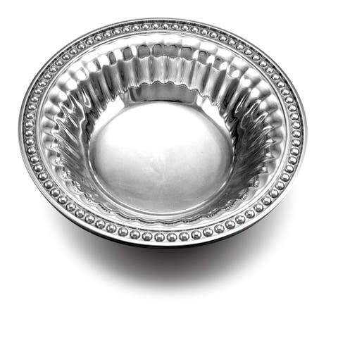 Wilton Armetale Flutes Pearls Snack Bowl