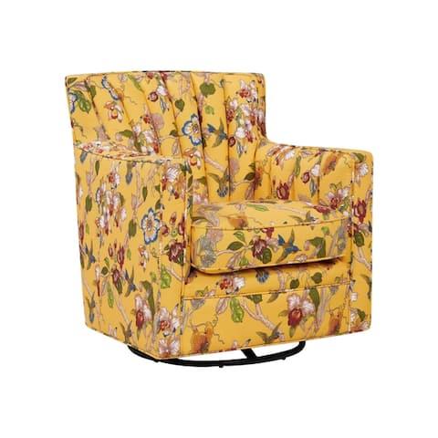 Copper Grove Hasselt Multi Floral Swivel Arm Chair