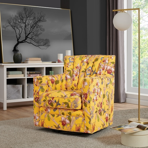 Copper Grove Hasselt Multi Floral Swivel Arm Chair. Opens flyout.