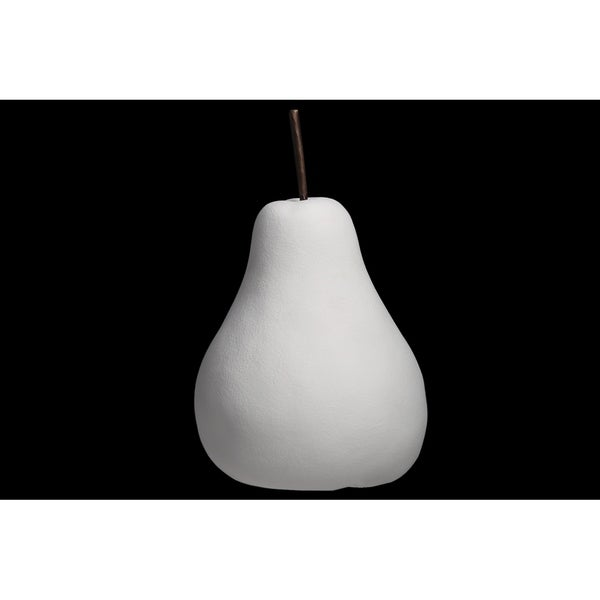 UTC16802: Porcelain Pear Figurine SM Matte Finish White