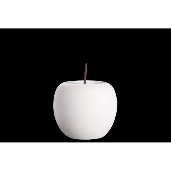 UTC50973: Porcelain Apple Figurine with Stem SM Matte Finish White