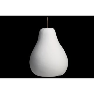 UTC16803: Porcelain Pear Figurine LG Matte Finish White