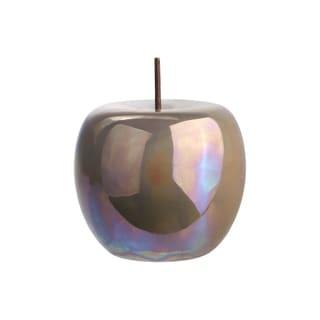 UTC50965: Ceramic Apple Figurine with Stem LG Polished Pearlescent Finish Sage