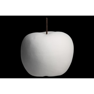 UTC16800: Porcelain Apple Figurine SM Matte Finish White