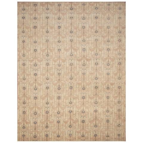 Handmade One-of-a-Kind Vegetable Dye Ikat Wool Rug (Afghanistan) - 8' x 10'4
