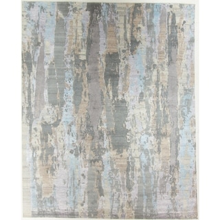 Modern Hand-Knotted Rug - 8' x 9'11""