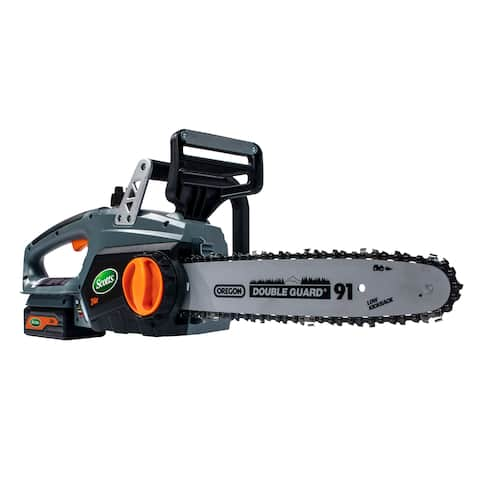 Scotts 12- Inch Lithium Ion 24 Volt Chain Saw - Black/Silver