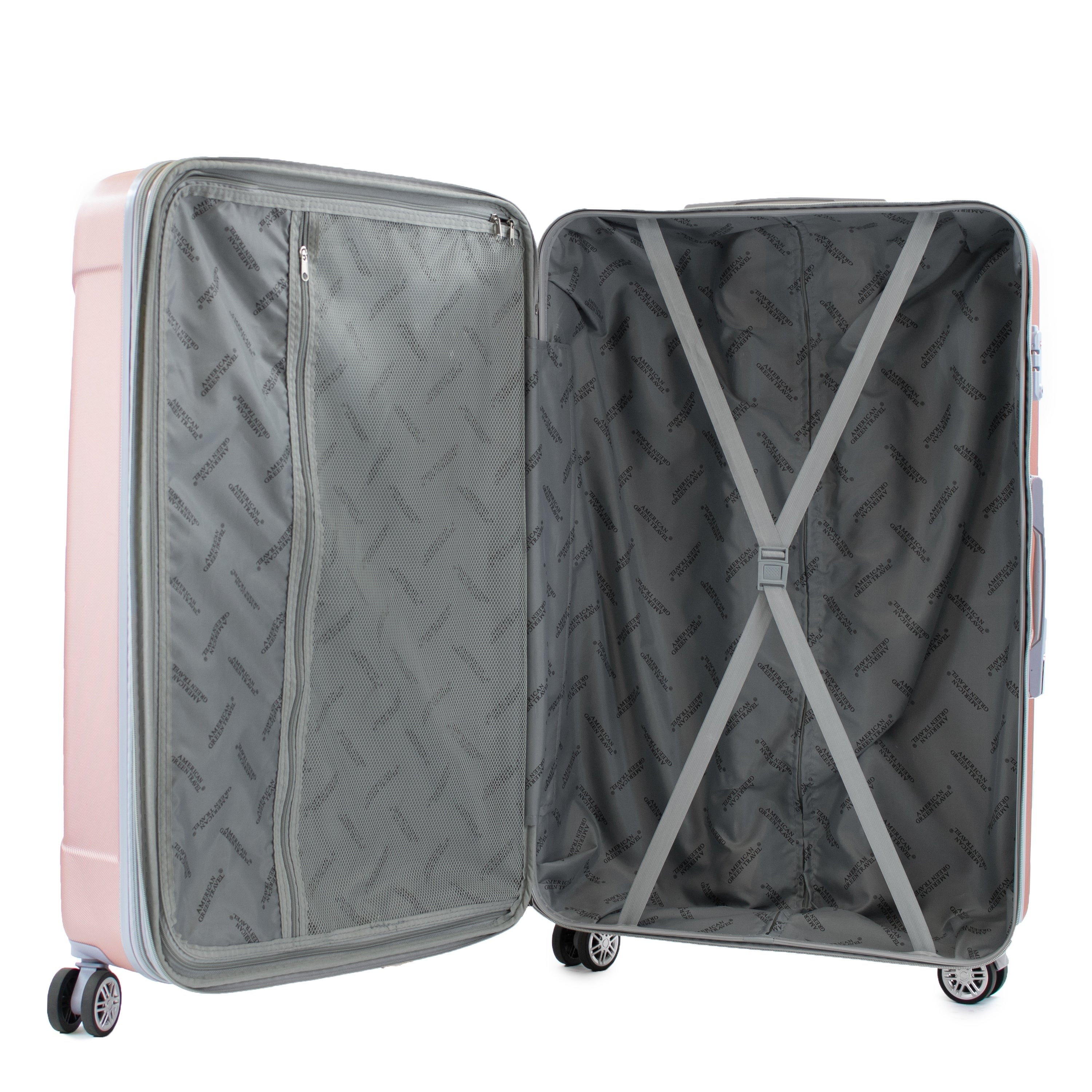 American Green Travel Denali 3 Piece Expandable Hardside Spinner Luggage Set