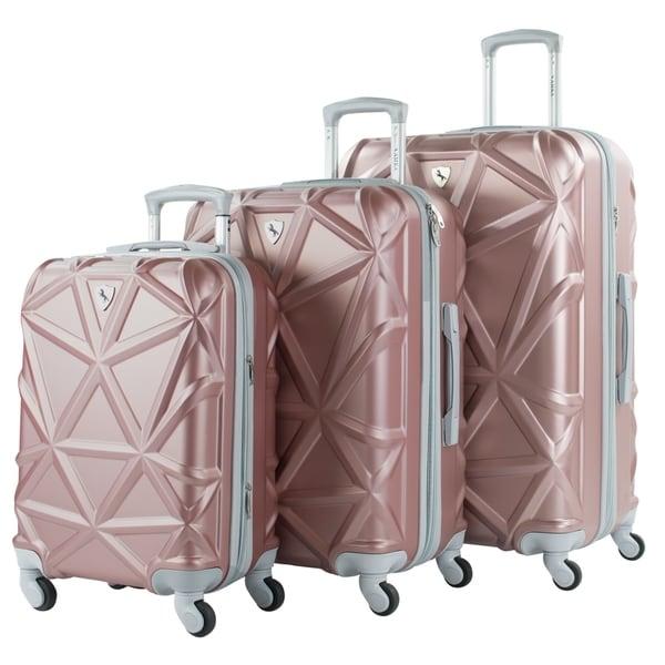a3c988cb9248 Shop AMKA Gem 3-Piece Expandable Spinner Luggage Set - Free Shipping ...