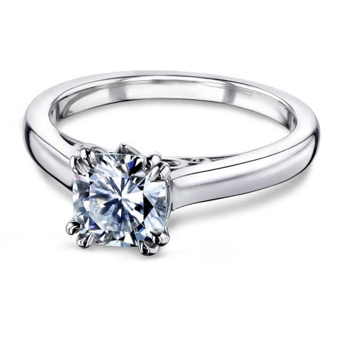 Annello by Kobelli 14k Gold 1 1/10ct Classic Moissanite Solitaire Engagement Ring (GH/VS)