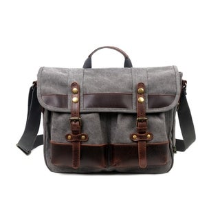 Link to TSD Brand Valley Trail Canvas Messenger Bag Similar Items in Messenger Bags