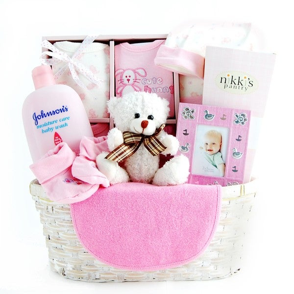 New arrival baby gift basket for girls free shipping today new arrival baby gift basket for girls negle Images