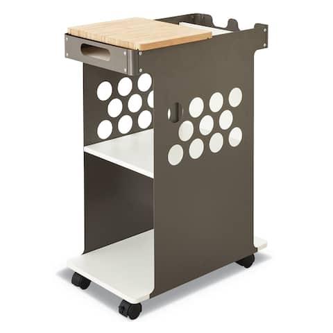 Safco White Metal Mini Rolling Storage Cart