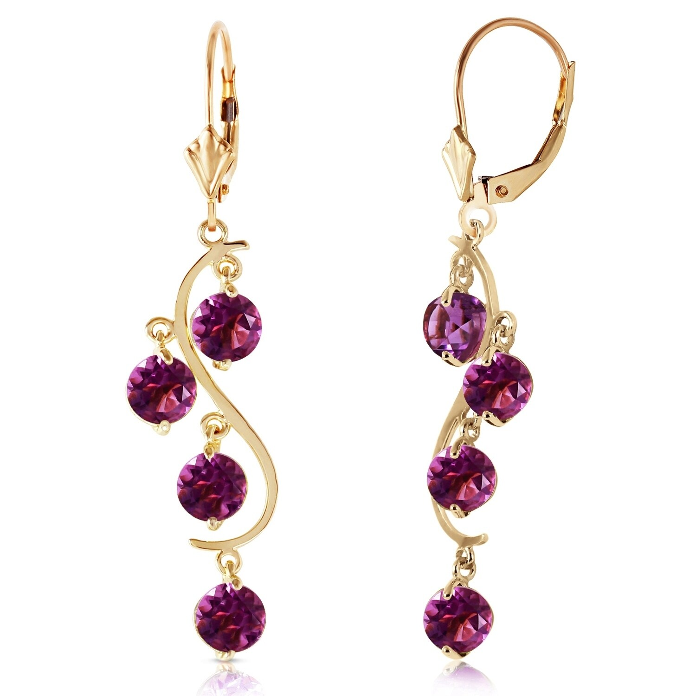 14k Gold Grape and Cork Screw Earrings Wine Earrings Wine Lovers Earrings with Real Amethyst Gemstone and Real Cork.