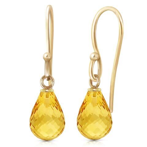 2.7 Carat 14K Solid Gold Effortless Citrine Earrings