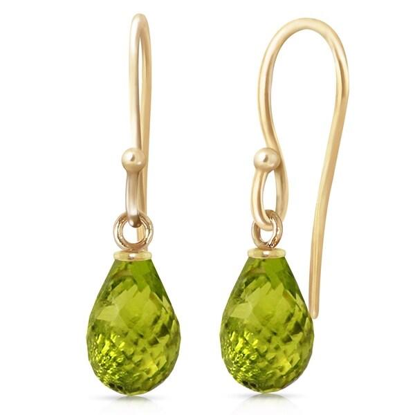 2.7 Carat 14K Solid Gold Fish Hook Earrings Peridot. Opens flyout.
