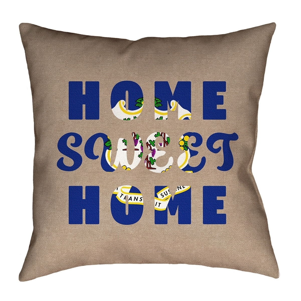 Katelyn Smith Home Sweet Connecticut Pillow Cotton Twill Overstock 26515120