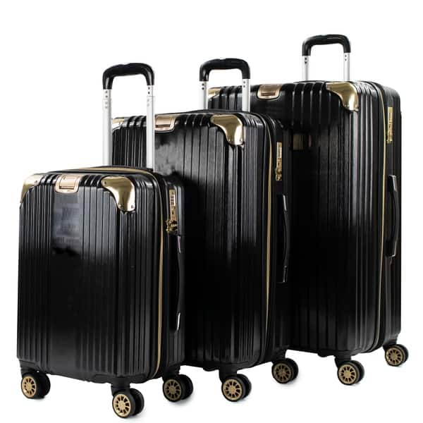 699fcf579 Shop AGT Melrose S 3-Piece Anti-theft TSA Spinner Luggage Set - Free ...