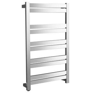 ANZZI Malibu 10-Bar Stainless Steel Wall Mounted Towel Warmer in Polished Chrome