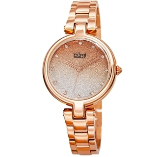 Link to Burgi Women's Crystal Glitter Link Bracelet Watch - Rose Similar Items in Women's Watches