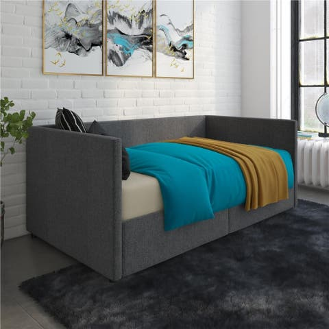 Avenue Greene Nolan Urban Upholstered Daybed with Storage