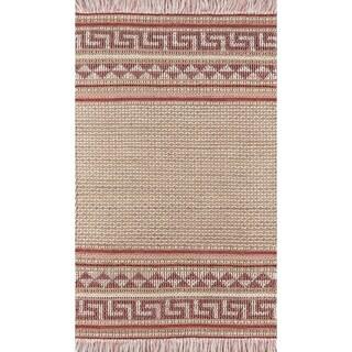 Momeni Esme Wool and Cotton Hand Made Pink Area Rug
