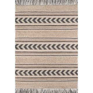 Momeni Esme Wool and Cotton Hand Made Charcoal Area Rug