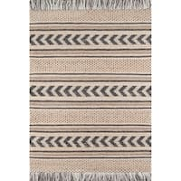 Momeni Esme Wool and Cotton Hand Made Charcoal Area Rug