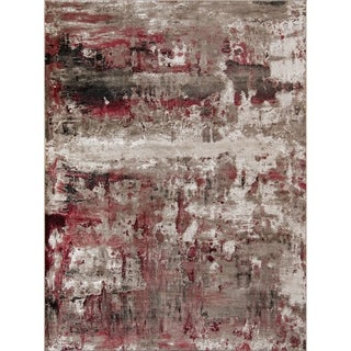 Momeni Monterey Polyester and Polypropylene Machine Made Red Area Rug