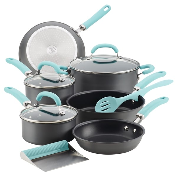 Rachael Ray Create Delicious Hard-Anodized 11-Piece Cookware Set