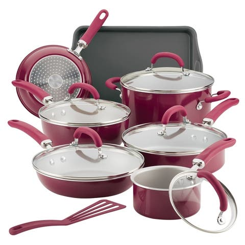 Rachael Ray Create Delicious Aluminum 13-Piece Nonstick Cookware Set - 13 Pc